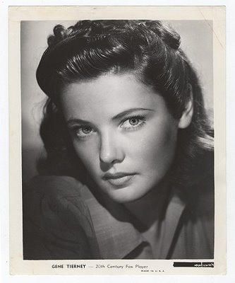 Gene Tierney 1941